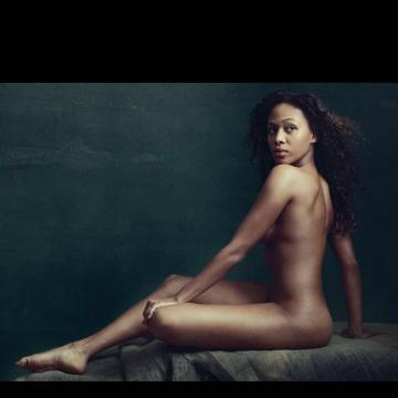 Nicole Beharie goes completely naked
