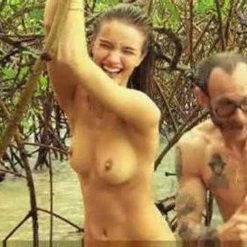 Rosie Huntington Whiteley nude in nature